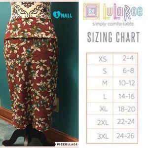 LuLaRoe Small Floral Cassie Skirt